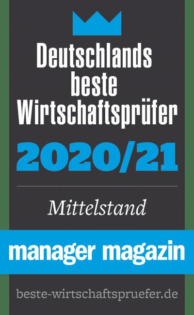 Auszeichnung Deutschlands beste Wirtschaftsprüfer 2020/21